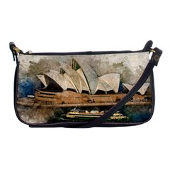 Sydney The Opera House Watercolor Shoulder Clutch Bags