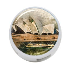 Sydney The Opera House Watercolor 4 Port Usb Hub (one Side)