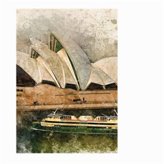 Sydney The Opera House Watercolor Large Garden Flag (two Sides)
