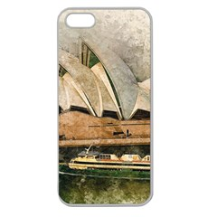 Sydney The Opera House Watercolor Apple Seamless Iphone 5 Case (clear) by BangZart