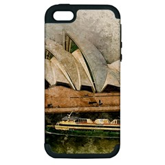 Sydney The Opera House Watercolor Apple Iphone 5 Hardshell Case (pc+silicone)
