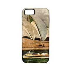 Sydney The Opera House Watercolor Apple Iphone 5 Classic Hardshell Case (pc+silicone)