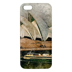 Sydney The Opera House Watercolor Apple Iphone 5 Premium Hardshell Case
