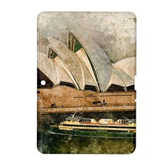 Sydney The Opera House Watercolor Samsung Galaxy Tab 2 (10 1 ) P5100 Hardshell Case