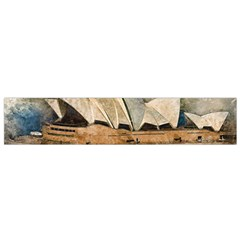 Sydney The Opera House Watercolor Small Flano Scarf