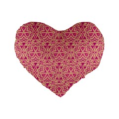 Tribal Pattern Hand Drawing Standard 16  Premium Flano Heart Shape Cushions by Cveti
