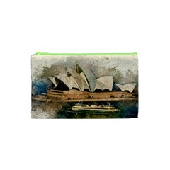 Sydney The Opera House Watercolor Cosmetic Bag (xs)