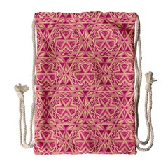 Tribal Pattern Hand Drawing Drawstring Bag (large) by Cveti