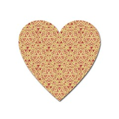 Tribal Pattern Hand Drawing 2 Heart Magnet by Cveti