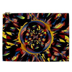 Spiky Abstract Cosmetic Bag (xxl)  by linceazul