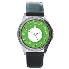Christmas Bauble Ball Round Metal Watch