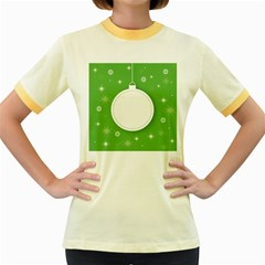 Christmas Bauble Ball Women s Fitted Ringer T Shirts