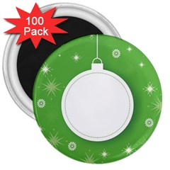 Christmas Bauble Ball 3  Magnets (100 Pack)