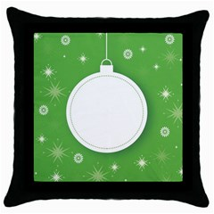 Christmas Bauble Ball Throw Pillow Case (black) by BangZart