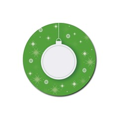 Christmas Bauble Ball Rubber Coaster (round)
