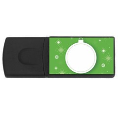 Christmas Bauble Ball Rectangular Usb Flash Drive by BangZart