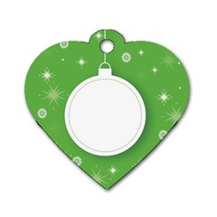 Christmas Bauble Ball Dog Tag Heart (one Side)