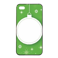 Christmas Bauble Ball Apple Iphone 4/4s Seamless Case (black)