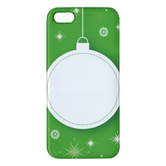 Christmas Bauble Ball Apple Iphone 5 Premium Hardshell Case by BangZart