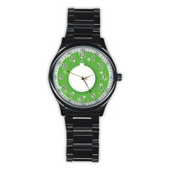 Christmas Bauble Ball Stainless Steel Round Watch by BangZart