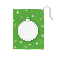 Christmas Bauble Ball Drawstring Pouches (large)