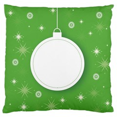 Christmas Bauble Ball Standard Flano Cushion Case (two Sides)