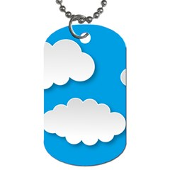 Clouds Sky Background Comic Dog Tag (one Side)