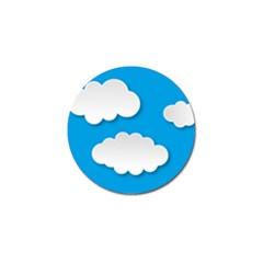 Clouds Sky Background Comic Golf Ball Marker