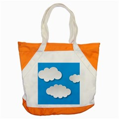 Clouds Sky Background Comic Accent Tote Bag