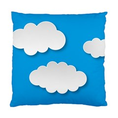 Clouds Sky Background Comic Standard Cushion Case (one Side) by BangZart