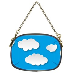 Clouds Sky Background Comic Chain Purses (two Sides)