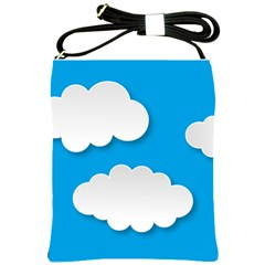 Clouds Sky Background Comic Shoulder Sling Bags