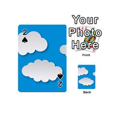 Clouds Sky Background Comic Playing Cards 54 (mini)