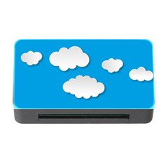 Clouds Sky Background Comic Memory Card Reader With Cf by BangZart