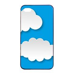 Clouds Sky Background Comic Apple Iphone 4/4s Seamless Case (black) by BangZart