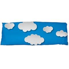 Clouds Sky Background Comic Body Pillow Case (dakimakura)