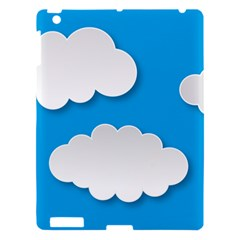 Clouds Sky Background Comic Apple Ipad 3/4 Hardshell Case by BangZart