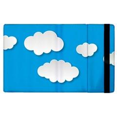 Clouds Sky Background Comic Apple Ipad 3/4 Flip Case
