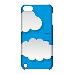 Clouds Sky Background Comic Apple Ipod Touch 5 Hardshell Case With Stand