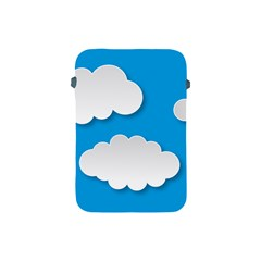 Clouds Sky Background Comic Apple Ipad Mini Protective Soft Cases by BangZart
