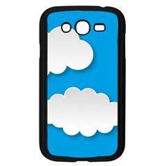 Clouds Sky Background Comic Samsung Galaxy Grand Duos I9082 Case (black)
