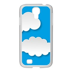 Clouds Sky Background Comic Samsung Galaxy S4 I9500/ I9505 Case (white)