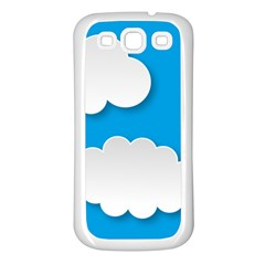 Clouds Sky Background Comic Samsung Galaxy S3 Back Case (white)