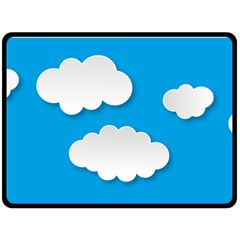 Clouds Sky Background Comic Double Sided Fleece Blanket (large)  by BangZart