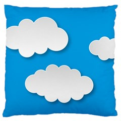 Clouds Sky Background Comic Large Flano Cushion Case (two Sides)