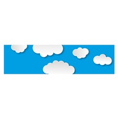 Clouds Sky Background Comic Satin Scarf (oblong) by BangZart