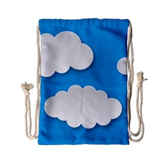 Clouds Sky Background Comic Drawstring Bag (small)