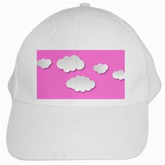 Clouds Sky Pink Comic Background White Cap