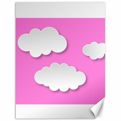 Clouds Sky Pink Comic Background Canvas 18  X 24