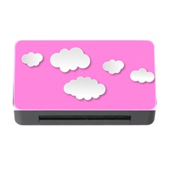 Clouds Sky Pink Comic Background Memory Card Reader With Cf by BangZart